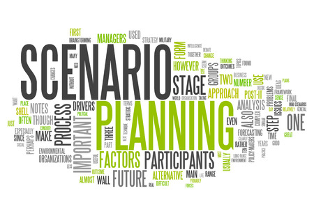 scenarios: Word Cloud with Scenario Planning related wording