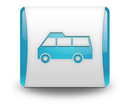 Icon, Button, Pictogram with Van symbol photo