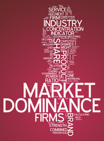 dominance: Word Cloud with Market Dominance related tags