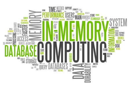 Word Cloud with In-Memory Computing related tags
