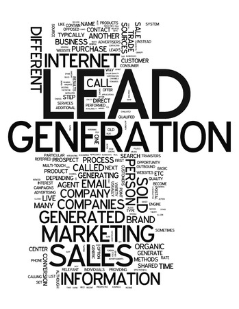 Word Cloud with Lead Generation related tags photo