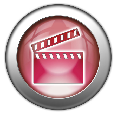 videotape: Pictogram with Clapperboard symbol
