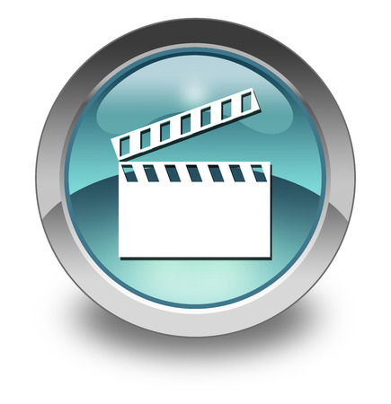sync: Pictogram with Clapperboard symbol