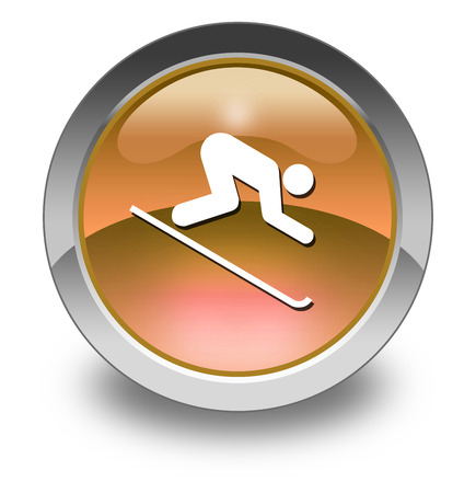 downhill skiing: Pictogram with Downhill Skiing symbol