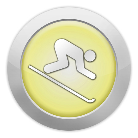 piste: Pictogram with Downhill Skiing symbol