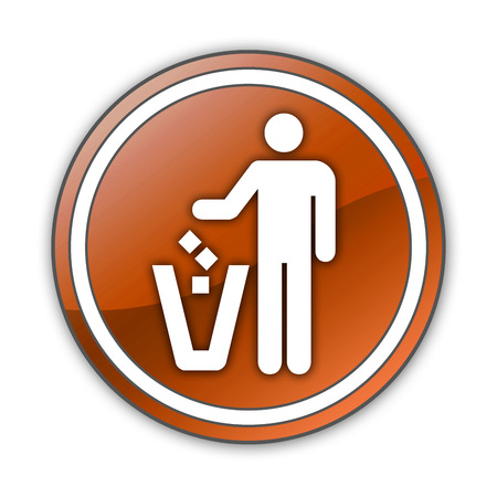 receptacle: Pictogram with Litter Container symbol Stock Photo