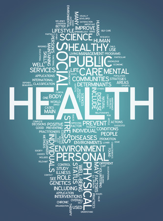 public spirit: Word Cloud with Health related tags