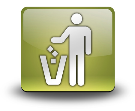 receptacle: Icon, Button, Pictogram with Litter Container symbol