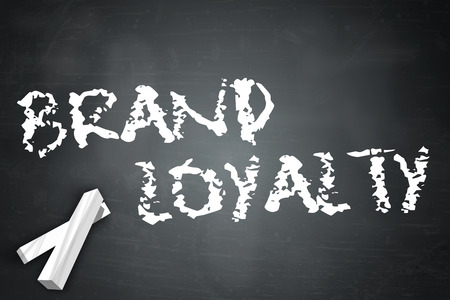Blackboard with Brand Loyalty wording Reklamní fotografie