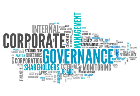 Nuage de mot avec la gouvernance d'entreprise liés balises