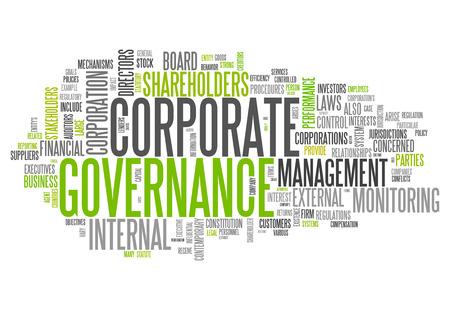Word Cloud mit Corporate Governance verwandte Tags Standard-Bild - 30441567