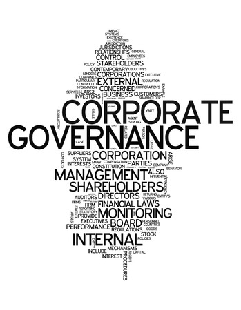 governing: Word Cloud with Corporate Governance related tags