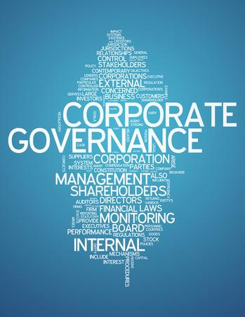 Nube de la palabra con las etiquetas vinculadas a la gobernanza corporativa
