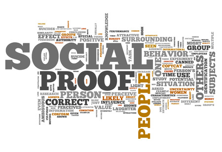 norms: Word Cloud with Social Proof related tags