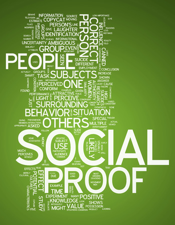 proof: Word Cloud with Social Proof related tags