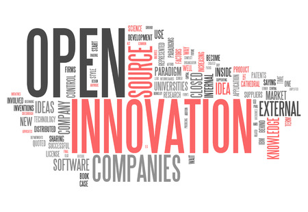 Word Cloud with Open Innovation related tags photo