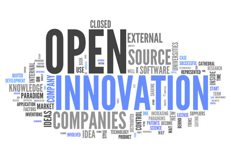 open source: Word Cloud with Open Innovation related tags