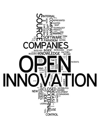 Word Cloud with Open Innovation related tags