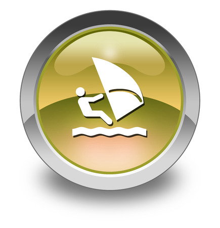 windsurfing: Icon, Button, Pictogram with Windsurfing symbol