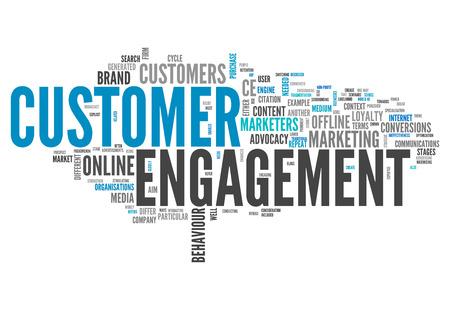verlobung: Wort-Wolke mit Customer Engagement verwandte Tags Lizenzfreie Bilder