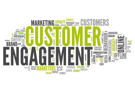顧客エンゲージメントの単語の雲関連タグ