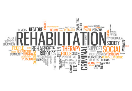 Word Cloud with Rehabilitation related tags photo