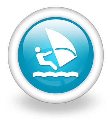 windsurf: Icon, Button, Pictogram with Windsurfing symbol