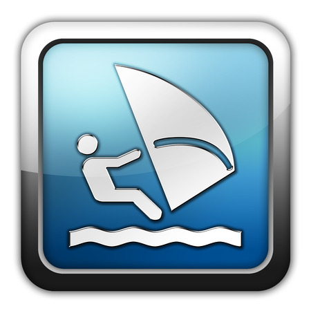 windsurf: Icono, bot�n, pictograma con el s�mbolo de Windsurf