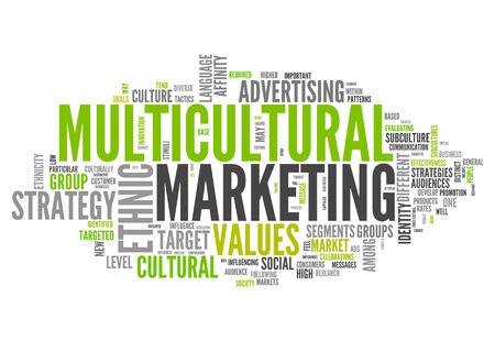 identidad cultural: Nube de la palabra con la redacci�n de Mercadeo Multicultural relacionados
