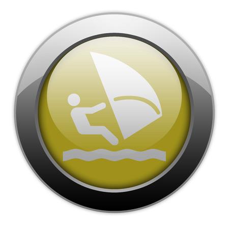 wind surf: Icono, bot�n, Pictograma con el s�mbolo de Windsurf