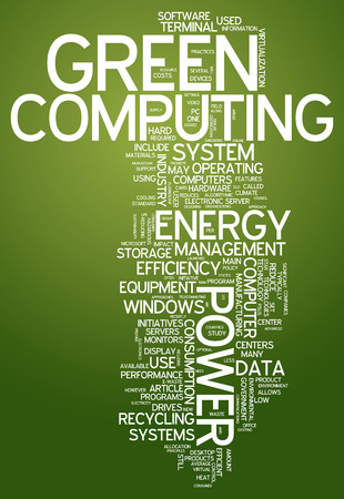 green computing: Word Cloud Green Computing related tags Stock Photo