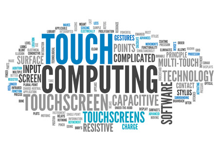 multitouch: Word Cloud with Touch Computing related tags