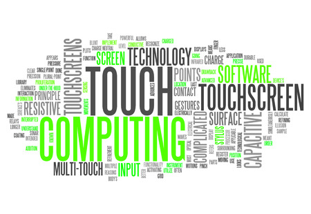 trackpad: Word Cloud with Touch Computing related tags