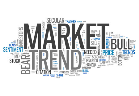 bullish: Word Cloud with Market Trend related tags