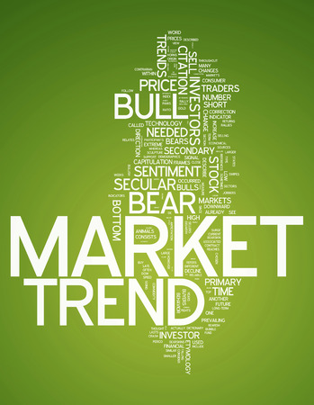 bearish market: Word Cloud with Market Trend related tags