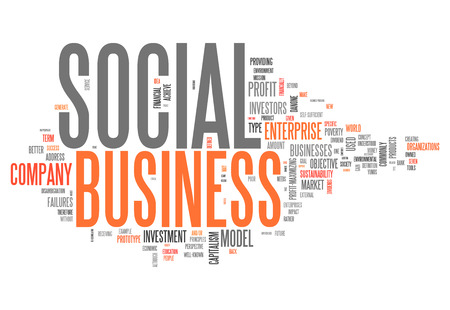 Word Cloud with Social Business related tags