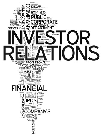 treasurer: Word Cloud with Investor Relations related tags