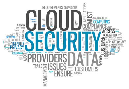 word collage: Word Cloud with Cloud Security related tags