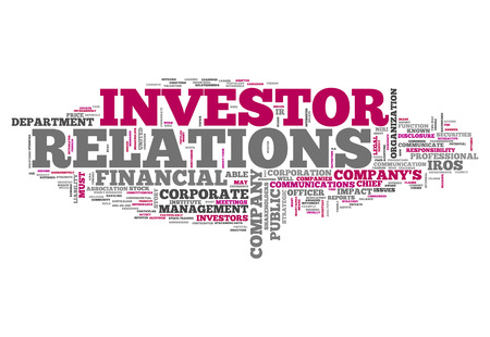 investor: Word Cloud with Investor Relations related tags