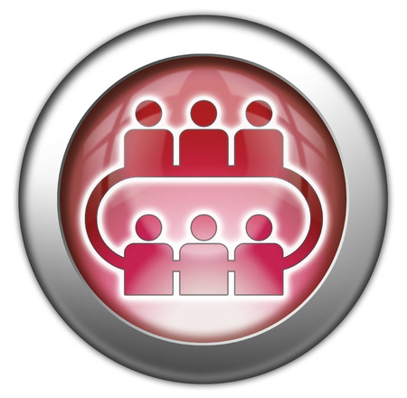 Icon, Button, Pictogram with Conference symbol Stock Photo