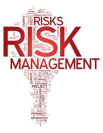 Nuage de mot avec la gestion des risques liés balises Banque d'images - 31874756