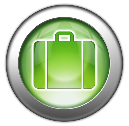 Icon, Button, Pictogram with Luggage symbol photo