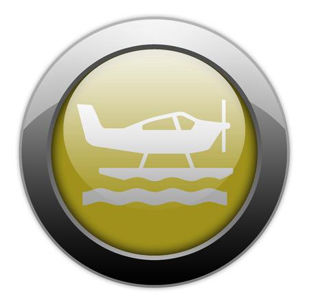 Icon Button Pictogram With Seaplane Symbol Stock Photo Picture