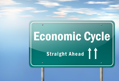 Highway Signpost with Economic Cycle wording