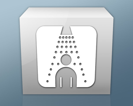 Icon, Button, Pictogram with Shower symbol photo