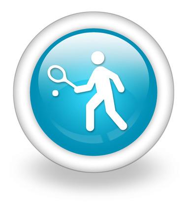 Symbol, Taste, Piktogramm mit Tennis-Symbol Standard-Bild - 31969354