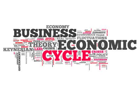 ciclos: Nube de la palabra con las etiquetas relacionadas con el ciclo económico