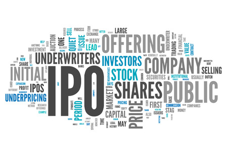 public offering: Word Cloud with IPO related tags