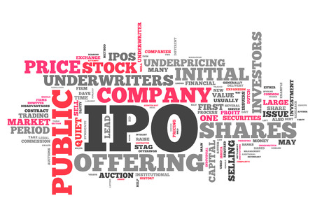 initial public offering: Word Cloud with IPO related tags