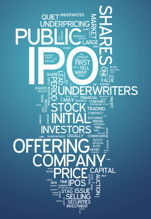 initial public offerings: Word Cloud with IPO related tags
